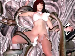 Sexy 3D hentai girl having tentacle sex